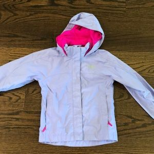 Girls North Face rain jacket.